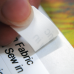 Medium White Printed Sew on Name Labels