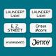 Stick on Clothing Labels White LAUNDER®