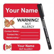Allergy Labels + Vinyl Marker Pen