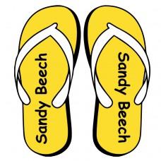 Flip Flop Shoe Labels for Kids