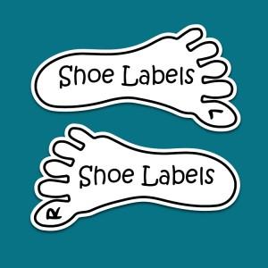 Stick on Kids Shoe Labels