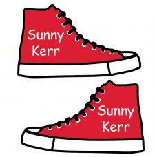 Sneaker Shoe Labels for Kids